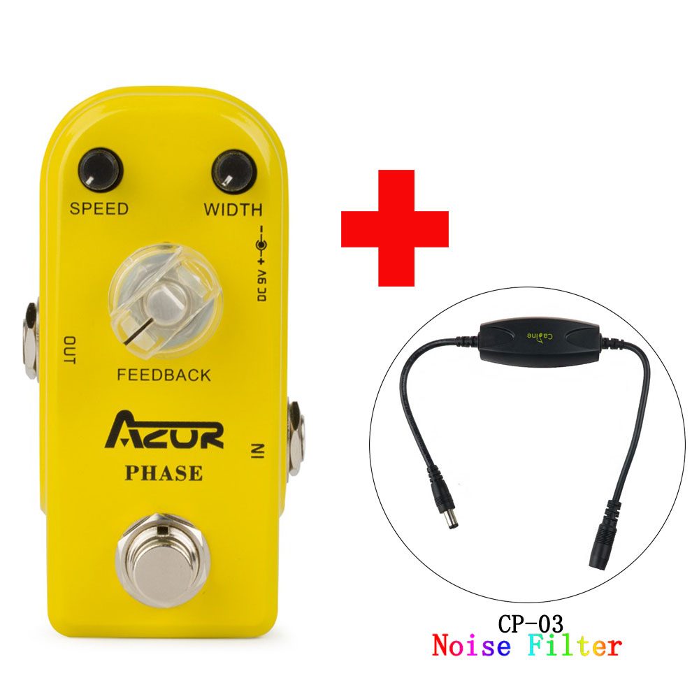 AP-301 Phase Mini Guitar Effect Pedal Aluminum Alloy True Bypass and Caline CP-03 Noise Filter aroma adr 3 dumbler amp simulator guitar effect pedal mini single pedals with true bypass aluminium alloy guitar accessories
