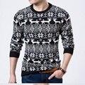 Свитер мужчин Рождественский олень свитер и пуловеры негабаритных свитера Вязаные свитера