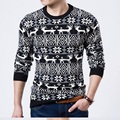 Sweater men Christmas deer sweater Men  and pullovers oversized sweaters Knitted sweaters