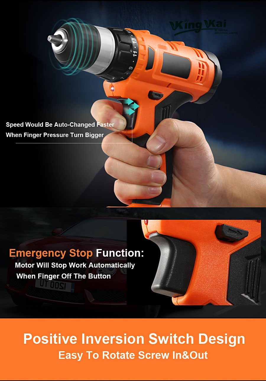 Cordless Lithium Battery Electric Drill-20
