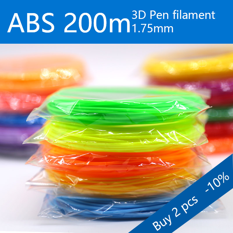 3d pen plastic 1.75mm ABS/PLA 3d pen filament 200m perfect  3d pens Environmental safety plastic Birthday gift|3D Pens| |  - title=