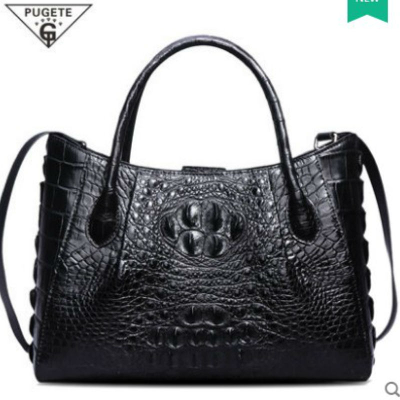 pugete new real crocodile leather women handbags women bags ladies bag crocodile leather bag women fashion women  package