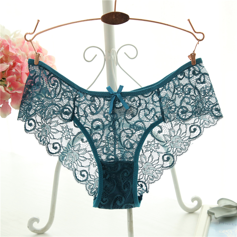 IXueJie Plus Size S/XL Panties Transparent Underwear Women Lace Soft Briefs