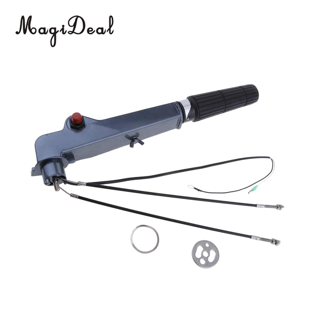 MagiDeal Marine Boat Outboard Steering Arm Tiller Handle for Yamaha 15HP 18HP Water Sport Rowing Flatable