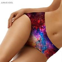 Panties Women Seamless Cute Underwear Sexy Seamless 3D Underwear Galaxy Star Space Print Women Ladies Middle Waist Panty Briefs