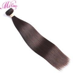 MS Love #2 темно коричневый прямые бразильские пучки волос плетение 1 шт. пряди человеческих для наращивания 100 г Бесплатная доставка не Реми
