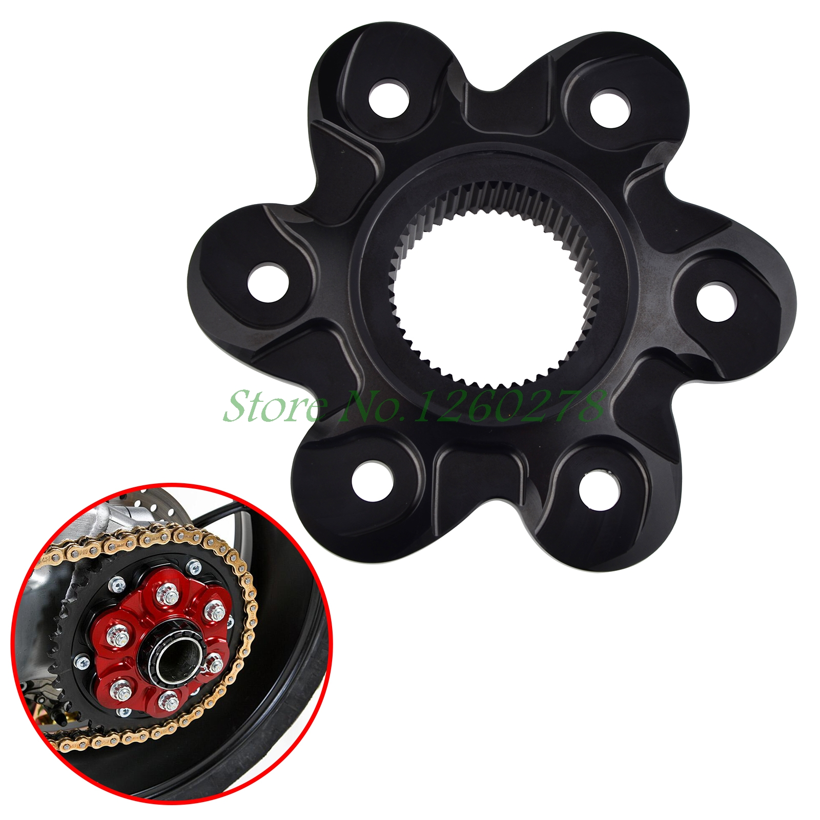 Motorcycle Rear Sprocket Cover Drive Flange Cover For Ducati 1098 1198 1199 1299 Monster 1200 Diavel Streetfighter free shipping motorcycle carbon fibre rear shock cover and heel guard for ducati 899 959 1199 1299 motorbike motocross