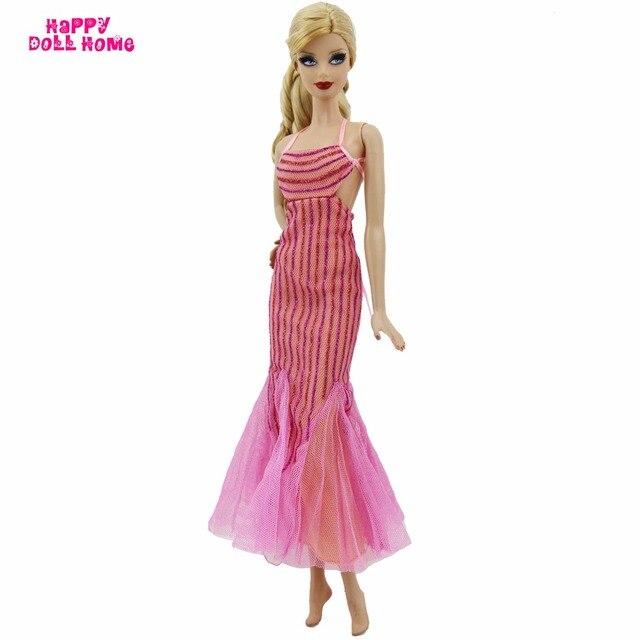 7ae4c62fe4c3 Splendida rosa cena vestito da partito nastro incontri lady abito costume  di modo per barbie doll