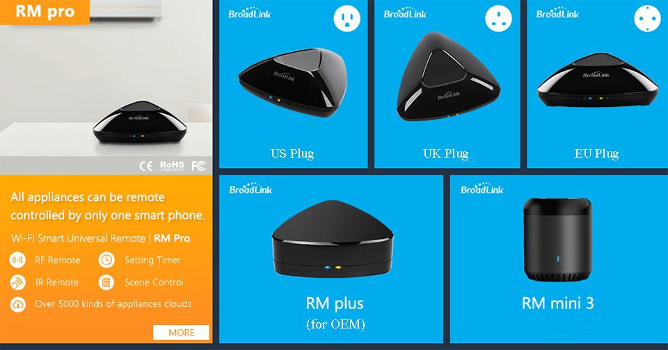 2017 Broadlink RM03 RM PRO Uniwersalny Inteligentny Pilot Smart Home Automation WiFi + IR + RF Przełącznik Poprzez IOS Android Telefon 2