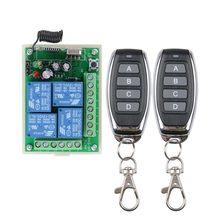 Receptor de controle remoto, múltiplos dc 12v 24v 10a 315/433 mhz 4ch 4 ch sem fio interruptor de controle remoto transmissor + 4 botões