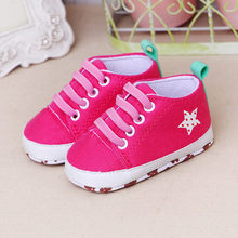 Newborn Toddler Baby Shoes Girls Boys Star Print Solid Cute Soft Sole Casual Shoes Baby Solid Meisje baby Softs Minnie Shoes(China)