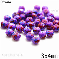 Isywaka 3X4mm 30,000pcs Rondelle Austria faceted Crystal Glass Beads Loose Spacer Round Beads Jewelry Making NO.20