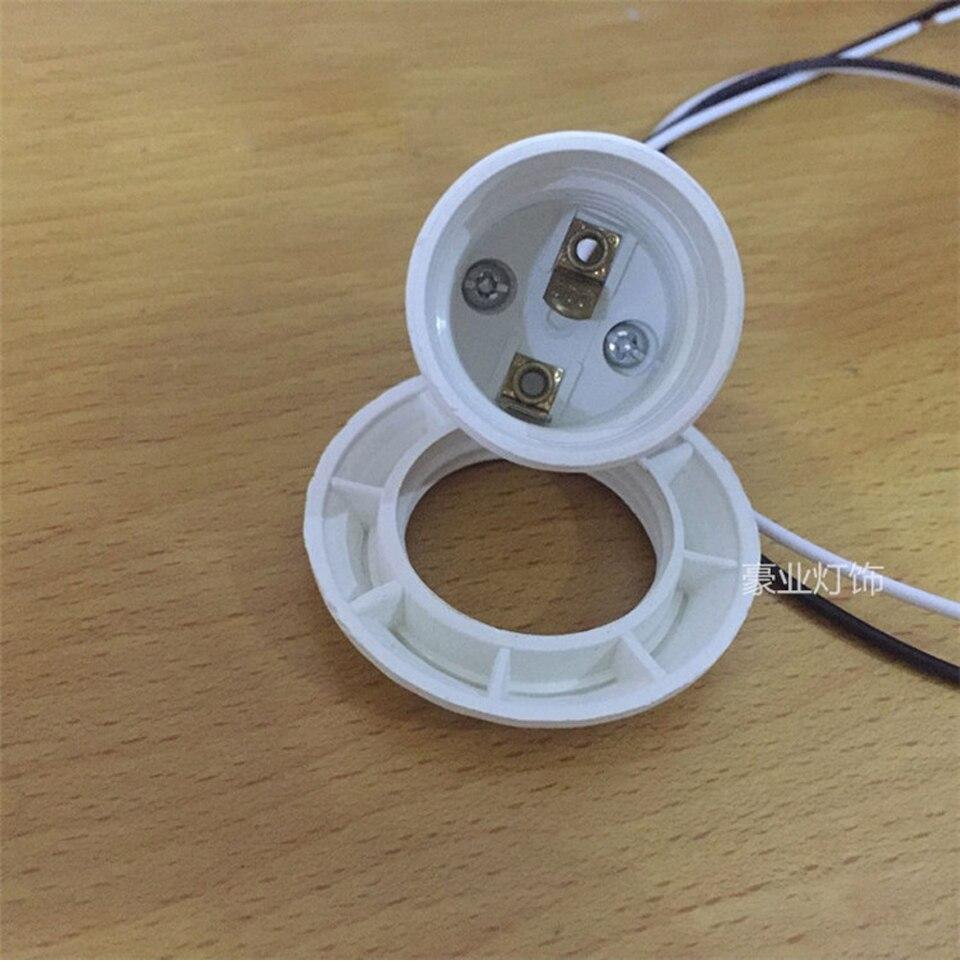 E27 патроны пластиковые винт рот полный зуб держатель лампы с проводом 600 мм крышка лампы аксессуары для освещения сердечник из чистой меди - 4
