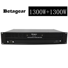 Betagear AMP1300 Professional linear power amplifier 1300W+1300W amplificador audio 2100W*2 @4ohm amplifier audio professional