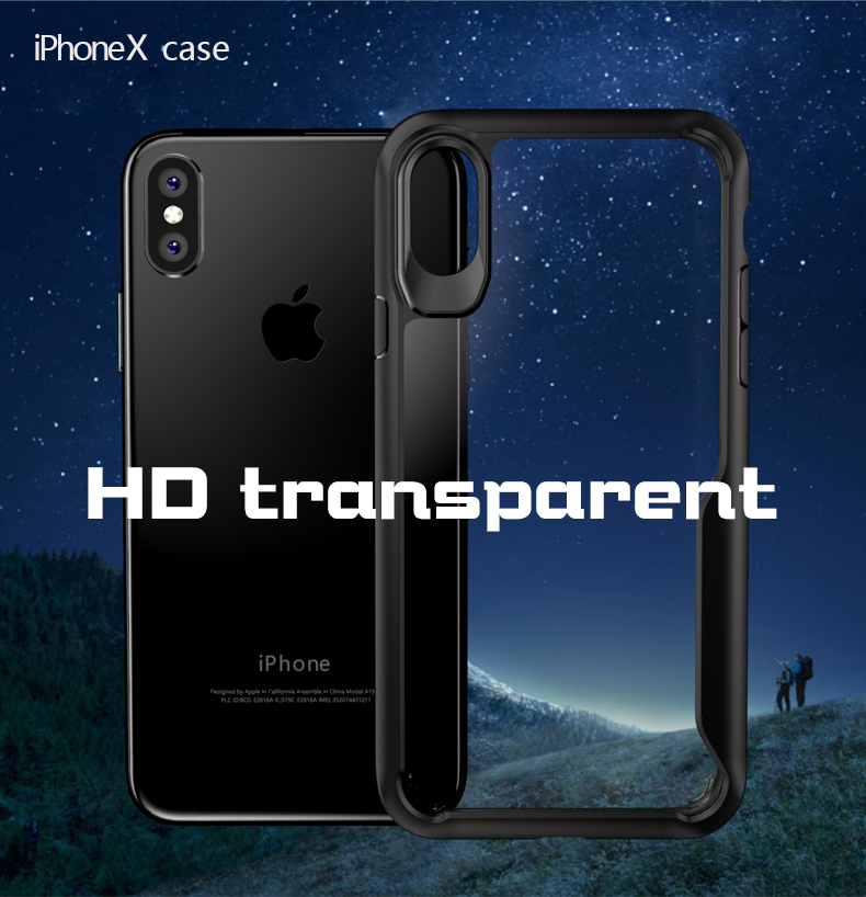LUPHIE Shockproof Armor Case For iPhone X 8 7 6 6S Plus 5 5S SE Transparent Case Cover (7)