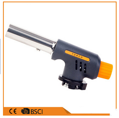 Portable Flame Gas Torch Flame thrower Butane Lighter Automatic Piezo electricity ignite Outdoor Camping BBQ Soldering