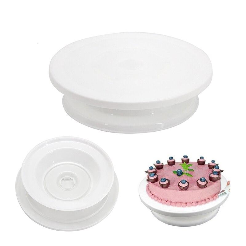 Koop Goedkoop 10 Inch Hoge Kwaliteit Cake Stand Ambachtelijke Turntable Platform Cupcake Kwartelplaat Revolving Cake Bakken Decorating Gereedschap