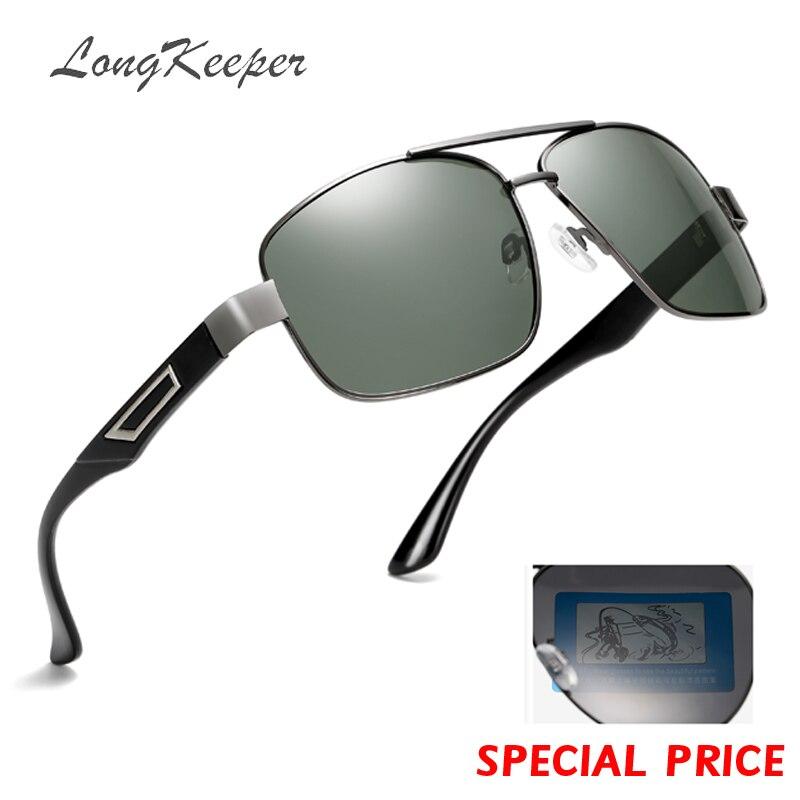 2a56773c78232 Homens LongKeeper HD Condução Polarizada Óculos de Sol Óculos de Armação De  Metal Mulheres Óculos de Design Da Marca de Alta Qualidade Masculino Óculos  de ...