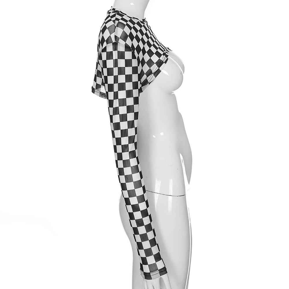 Sexy Fashion Womens Perspectief Tank Hoge taille Vormgeven Slanke Tops Halter Vest Kiel Mesh T-Shirt roupas femininas