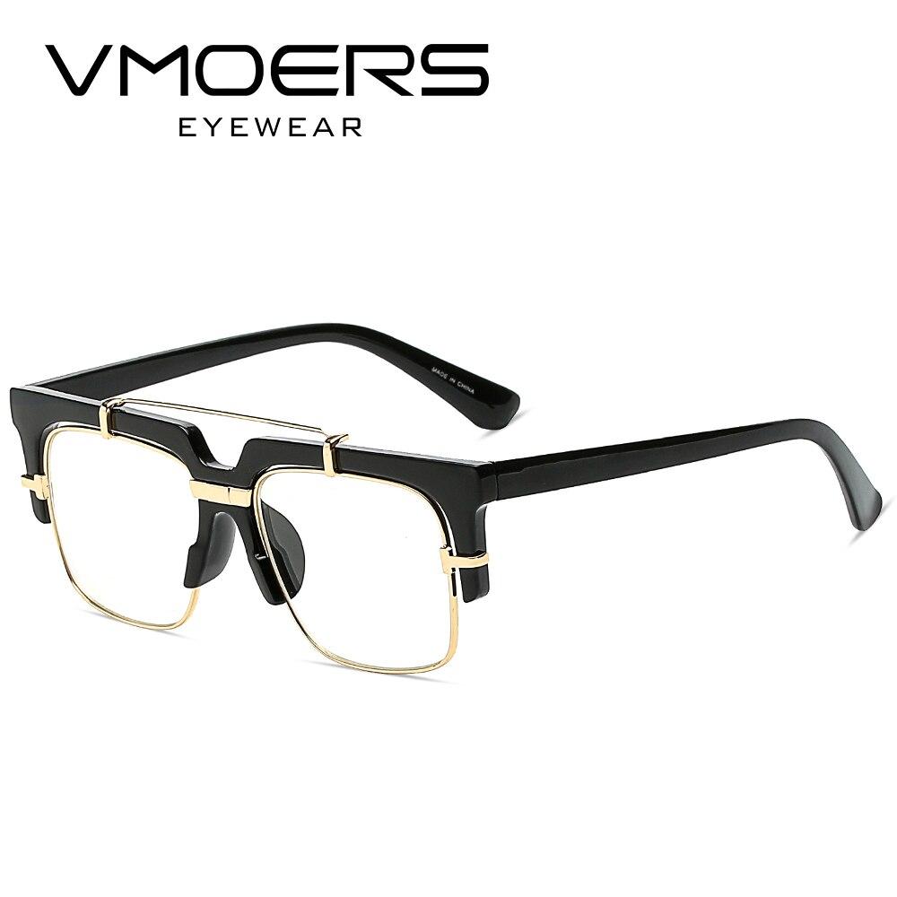 VMOERS Platz Halb Randlose Brillen Männer Mode Gefälschte ...