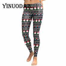 цена на Fans Made Christmas Cosplay Sports Leggings Fitness for Women elk Green 3D Prindted Sexy Legins Plus Size Leginsy Damskie