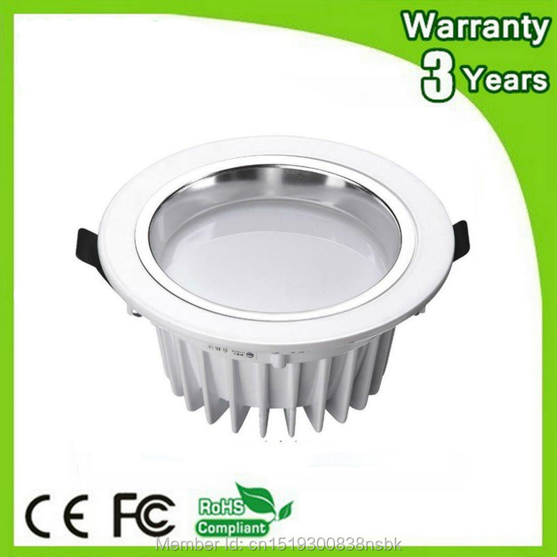 (10PCS / Lot) 3 años de garantía Super brillante 5W 7W 12W 18W 30W LED Down Light Dimmable LED Downlight COB Spotlight Bombilla