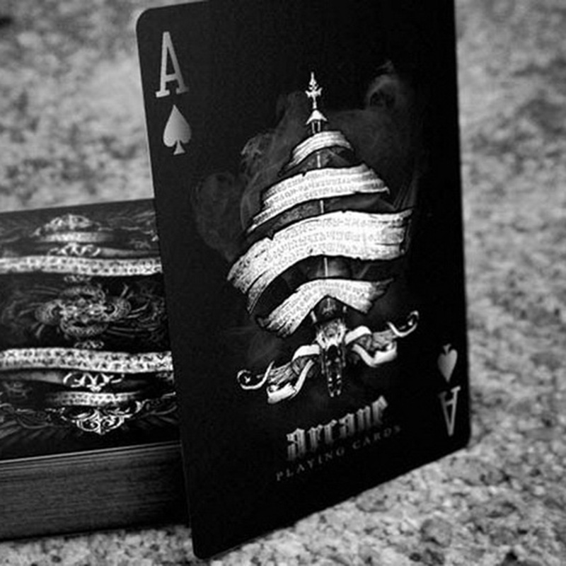 1 PCS Black/White Black Arcane Ellusionist Bicycle Poker Playing Cards Magic Paper Cards With Free Shipping стоимость