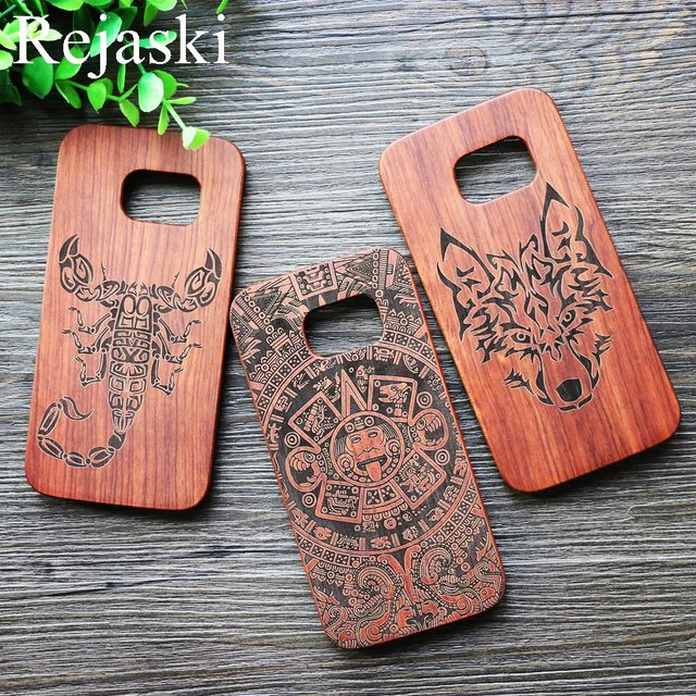 Us 759 5 Offgod Totem Wood Phone Case Cover For Samsung Galaxy S7 Edge Scorpion Original Sculpture Cell Phone Cases For Samsung S7edge In Fitted