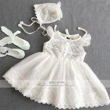 Baby Blumenmädchen Kleider + Hut + Schuhe Anzüge für Weihnachten Geburtstag Party Hochzeit Kleid Vestido Infantil 80238