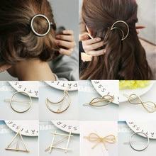 Модная заколка для волос для женщин, элегантный дизайн, треугольная круглая заколка с Луной и губами, заколка для волос, заколки для волос, аксессуары для головы#01