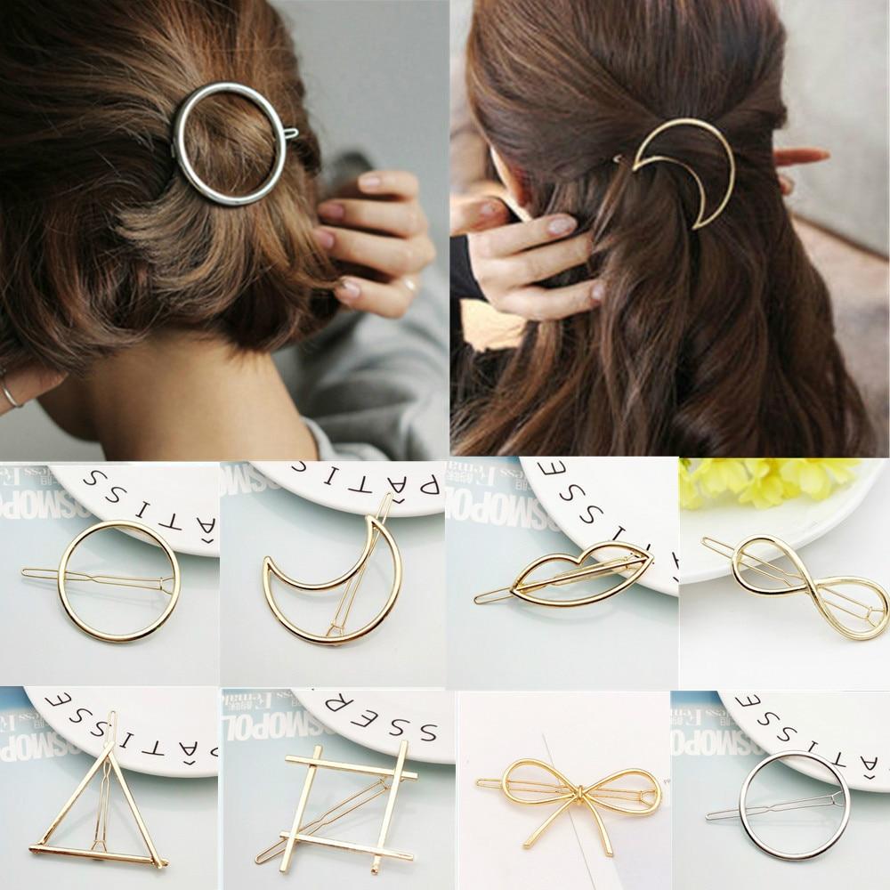 2019 Fashion Hair Clip for Women Elegant Design Triangular Moon Lip Round Barrette Stick Hairpin Hair Pins Head Accessories #01|Hair Clips & Pins| - AliExpress