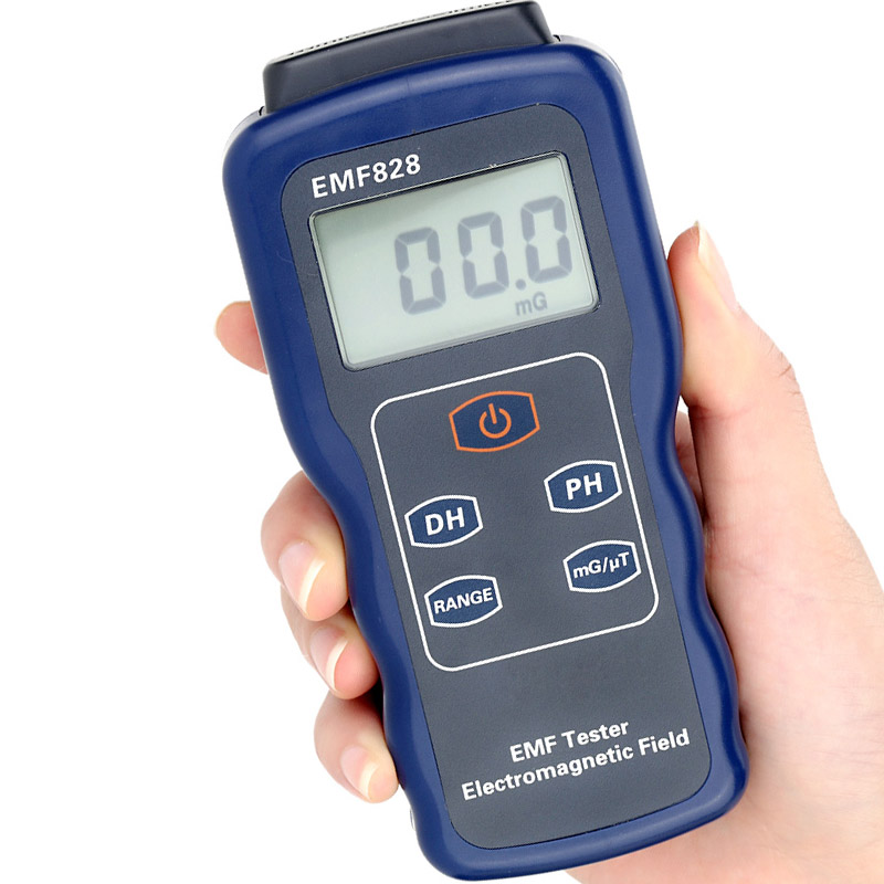 ФОТО EMF828 Digital Low Frequency Field Intensity Meter Indicator Electromagnetic Radiation Tester Data Hold free shipping