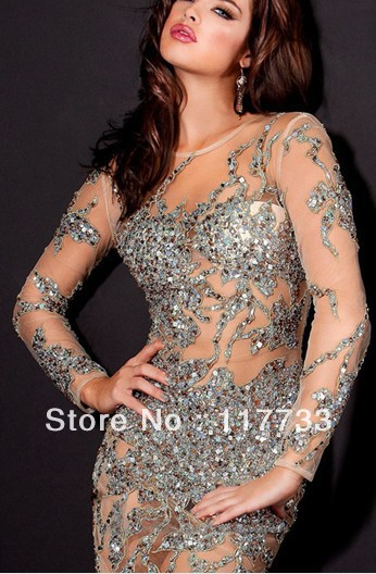 hot sale Tulle Prom Dresses 2013 Sequin Sexy Showgirl Dresses With ...