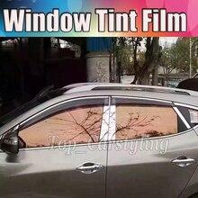 VLT 70% Rose Gold Vidro Filme Matiz Da Janela Do Carro Auto Carro Casa Comercial Película Decorativa Privacidade tintométrico solar 1.52×30 m 5x98ft