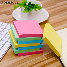 лучшая цена 100 Pages Multicolor Sticky Notes Cute Memo Me Pads Sticker Post It Bookmark Marker Flags Planner Briefpapier Office Supplies