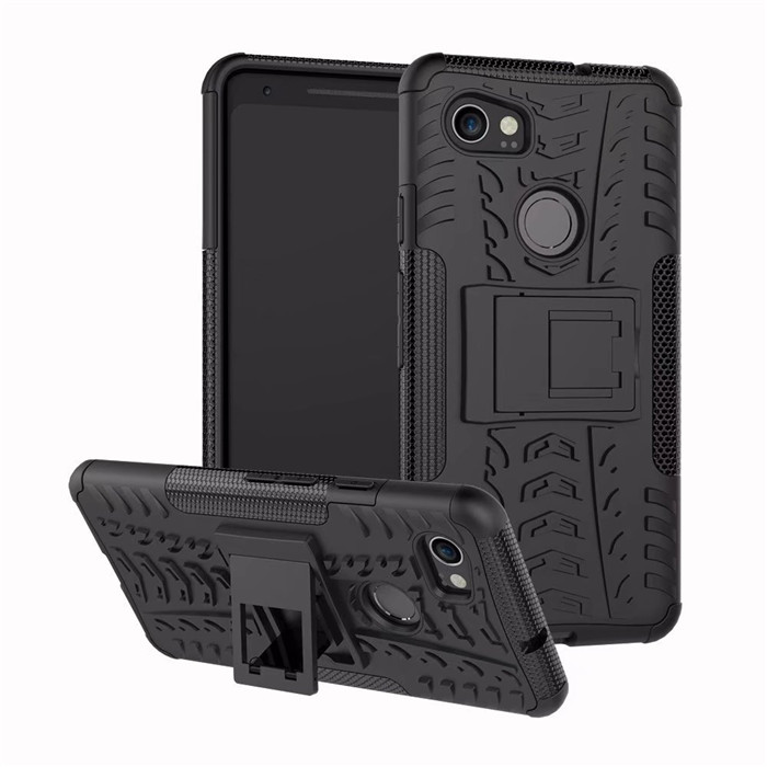 For Google Pixel 2 / 2XL CASE Hybrid Armor Silicone Rubber Hard Case For Google Pixel 2 XL Slim PC + Soft TPU Phone Case