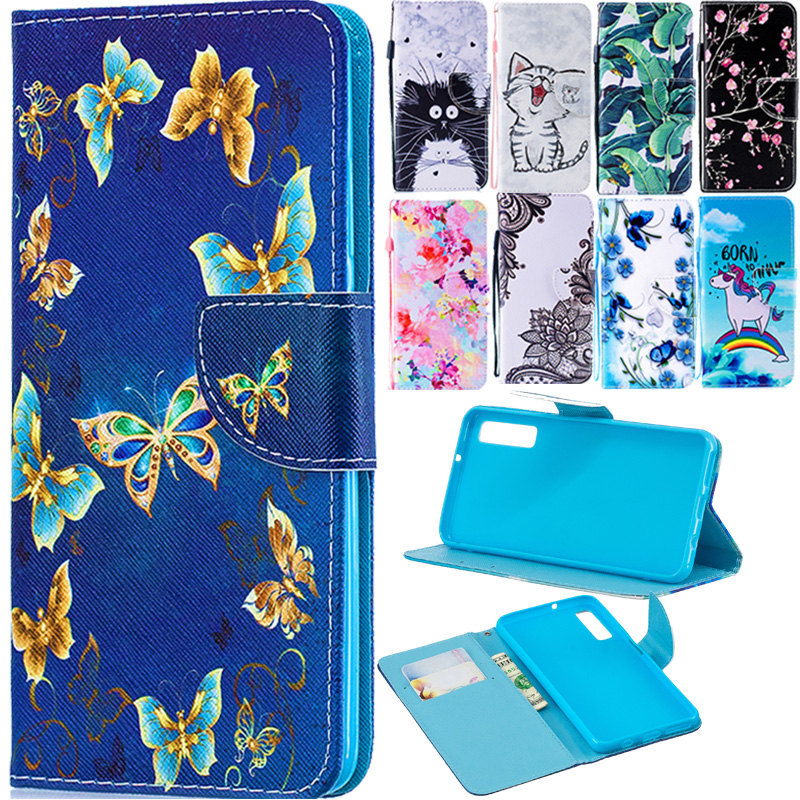 A7 2018 Case on for Fundas Samsung Galaxy A7 2018 Cover sFor Coque Samsung A7 2018 <font><b>A72018</b></font> Covers Wallet Flip Stand Phone Case image