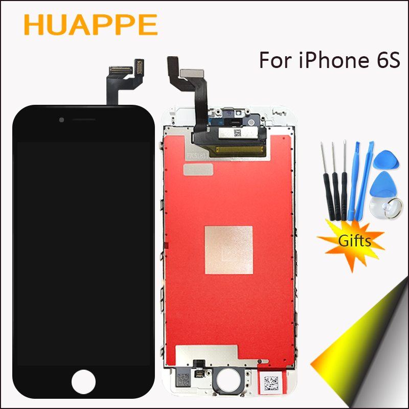 High Quality No Dead Pixel Display For Apple iPhone 6S LCD Touch Screen Replacement With Digitizer 3D Touch 4.7 inch White Black  цены