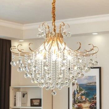 Modern Crystal Chandelier Light LED Chandelier Lighting Fixture Spark Crystal Pendant Hanging Lamp Living Dining Room Lighting