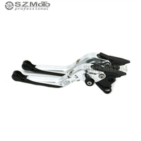 For DUCATI PAUL SMART LE PAULSMART 2006 Aluminum Motorcycle Folding Extendable Adjustable Brakes Clutch Levers With LOGO