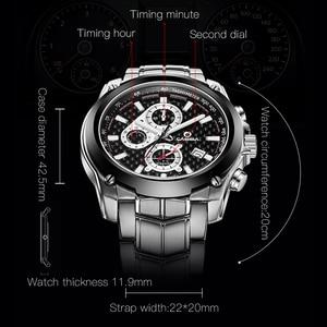Image 5 - CASIMA Mens Chronograp Sport Watch Fashion 100M Waterproof Diver Military Quartz Wrist Watch Clock Men saat Relogio Masculino