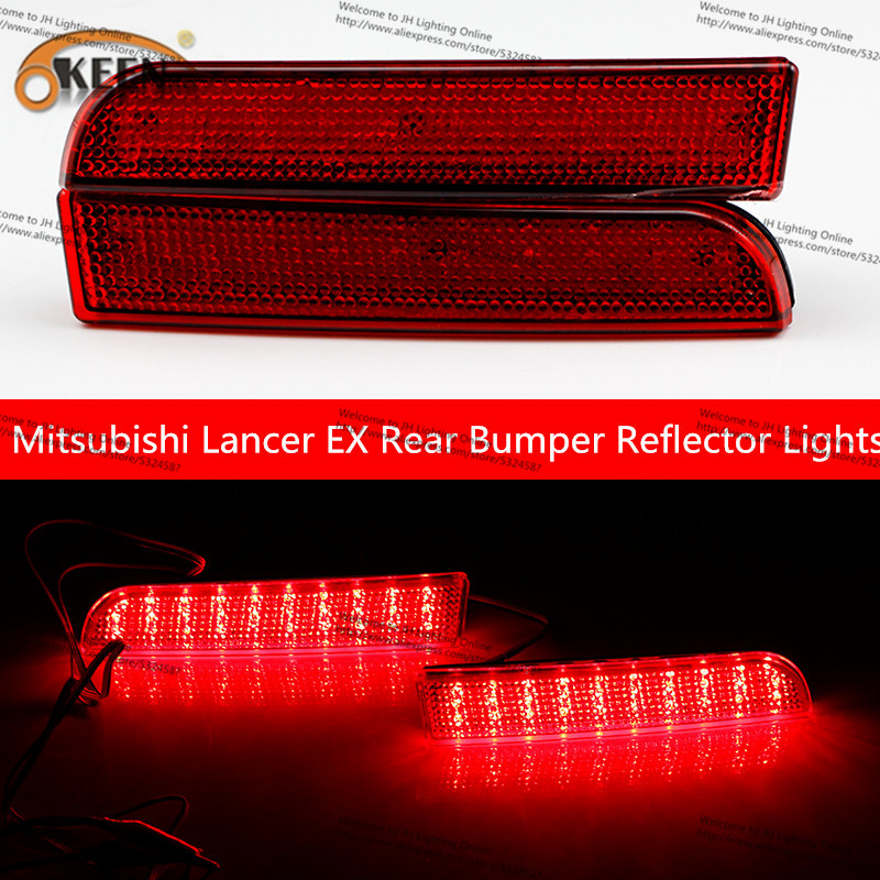 OKEEN New Led AntiCollision Rear-end Automobiles Tail Fog Light Car Brake Parking Lamp Signal Light For Mitsubishi Lancer EX