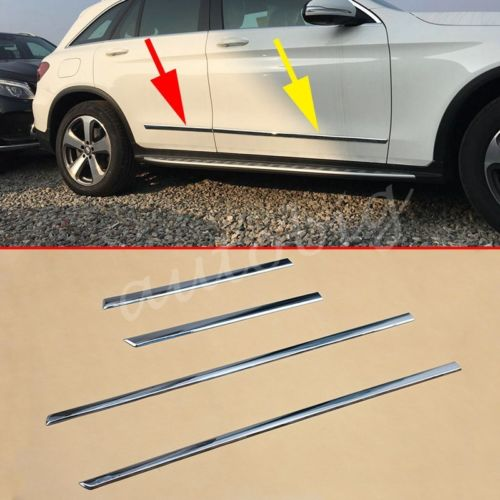 Chrome Door Body Side Molding For Mercedes-Benz GLC X253 2016 2017 Cover Trims