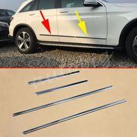 Moldagem lateral do corpo da porta do cromo para mercedes-benz glc x253 2016 2017 guarnições de cobertura