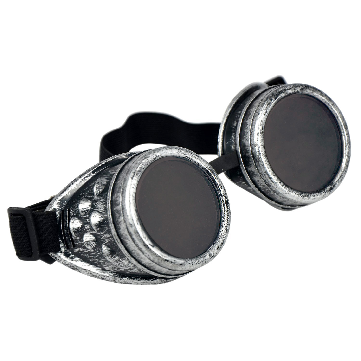 Rustic Vintage Cyber Goggles Steampunk Glasses Welding Gothic Cosplay Black