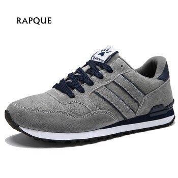 Мужские кроссовки, мужские осенние Кожаные Замшевые непромокаемые Мокасины, нескользящая резиновая обувь, удобная прогулочная обувь на шн...
