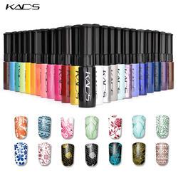 KADS штамп польской 1 бутылка/LOT лак для ногтей и лак для стемпинга дизайн ногтей 31 цветов дополнительно 10g лак для стемпинга гель лак для