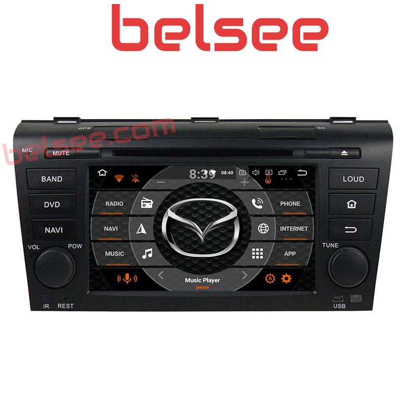 Belsee Octa Core 4GB Android 8.0 DVD Player Multimedia <font><b>Radio</b></font> Car Stereo Navi GPS for <font><b>Mazda</b></font> <font><b>3</b></font> 2003 2004 2005 <font><b>2006</b></font> 2007 2008 2009 image