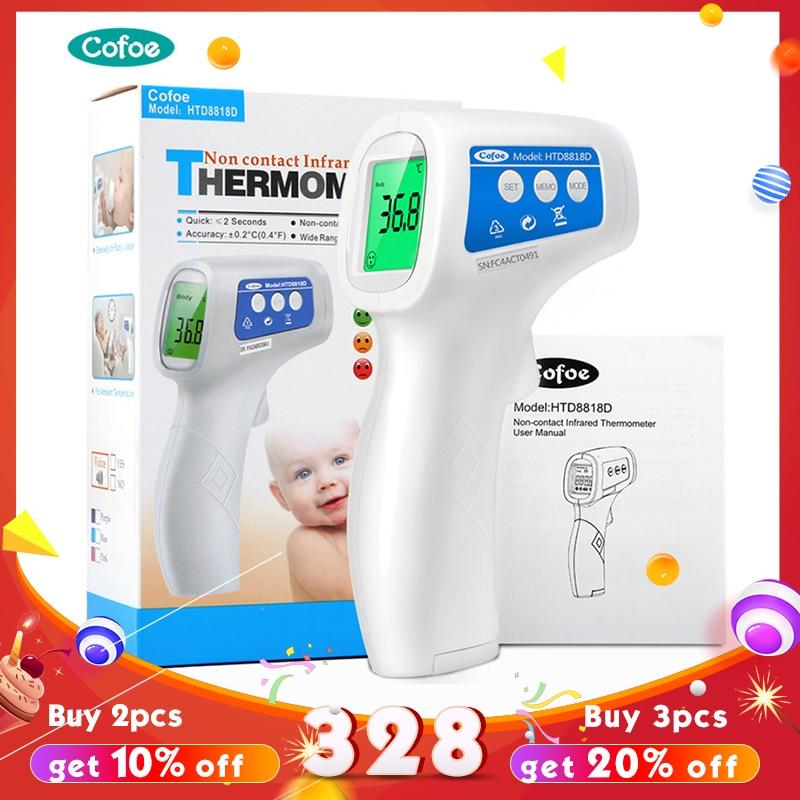 Cofoe frente infrarrojo termómetro Digital portátil sin contacto Termometro arma Bebé/cuerpo adulto dispositivo de medición de temperatura
