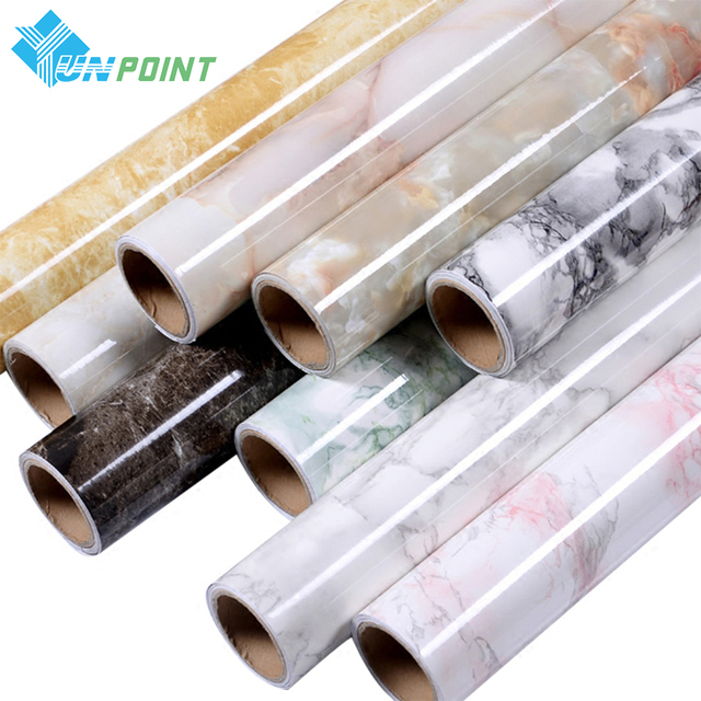 3m /5m Marble Waterproof Self adhesive Wallpaper Modern Living Room PVC Contact Paper Kitchen Shelf Drawer Liner Wall Stickers